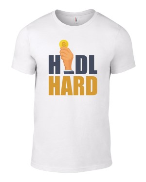 hodl hard coin in hand shirt
